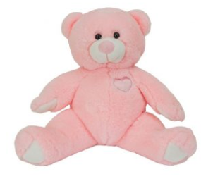 15 inch recordable pink teddy bear