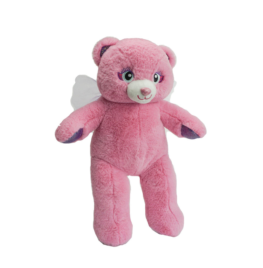 15 inch recordable Pink Angel Bear with wings