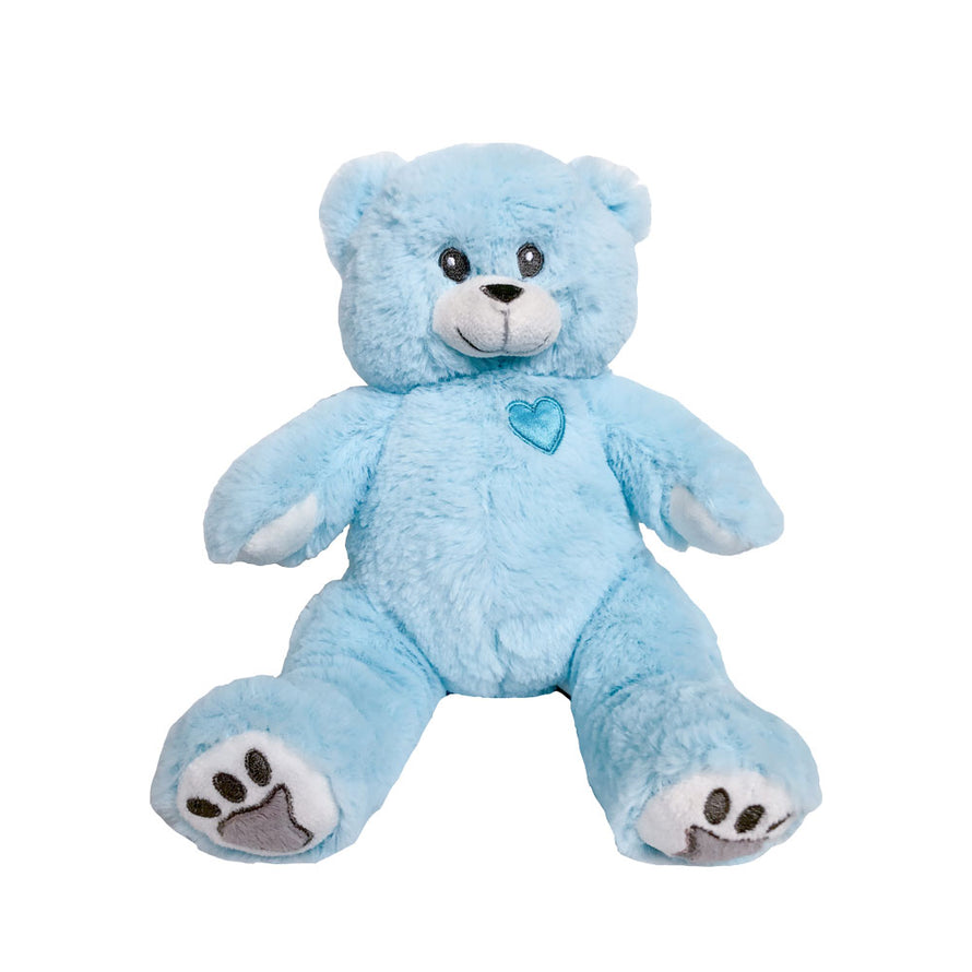 8 inch BLUE FLUFFY recordable  ITS A BOY gender reveal bear