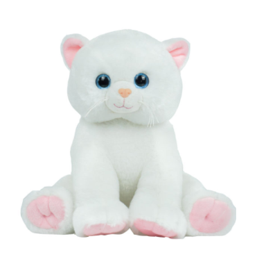 15 Inch Recordable White Kitty