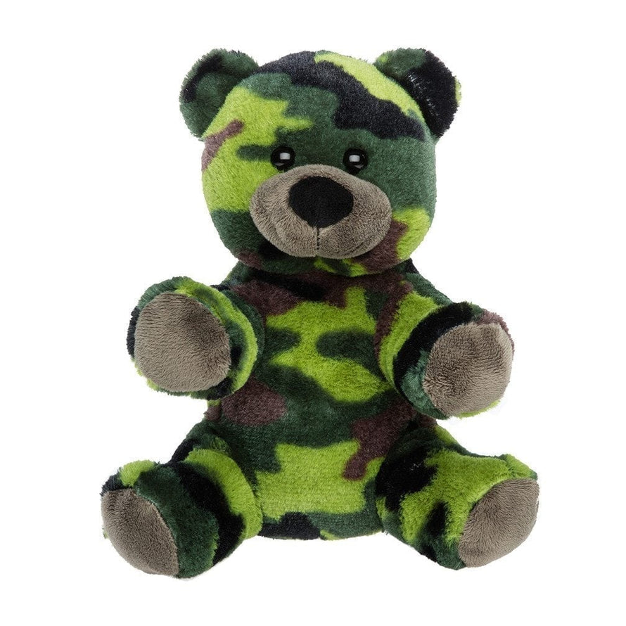 8 Inch Recordable hunter GREEN CAMOUFLAGE BEAR with 30 second digital recorder