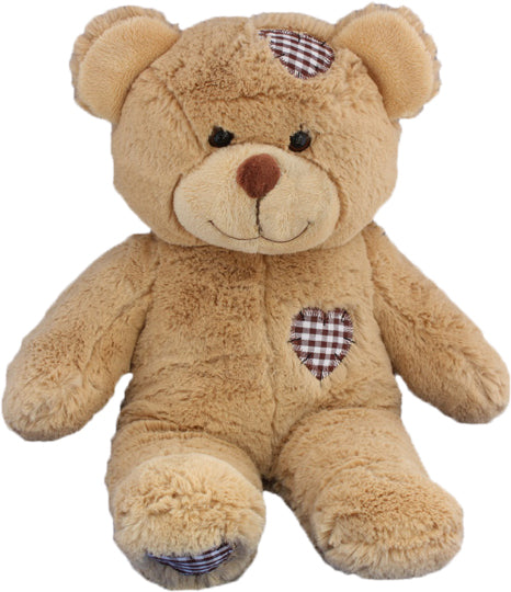 15 Inch Recordable Brown Patch Bear