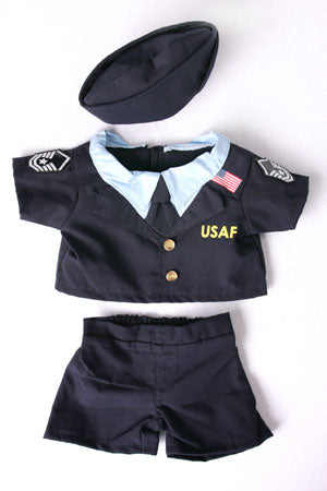Teddy bear Air Force Uniform, USAF Bear (fits 15-16