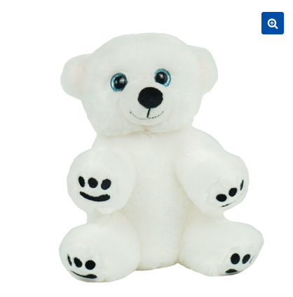 8 Inch recordable polar bear With 30 Second Digital Recorder