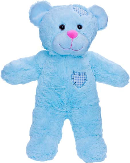 15 Inch recordable BLUE Patch bear