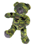 15 inch Recordable Camo Military Bear