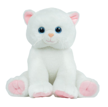 15 inch White Kitty unstuffed animal kit