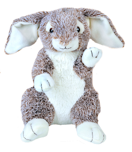 8 inch Grey Recordable Easter bunny