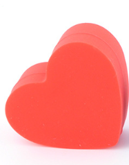 Silicon red heart wax jar oil container 18ml