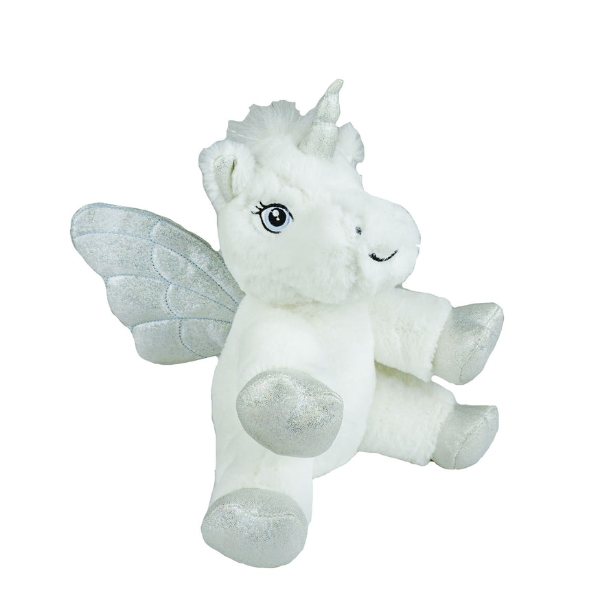 8 Inch Recordable ICE white unicorn Pegasus pony