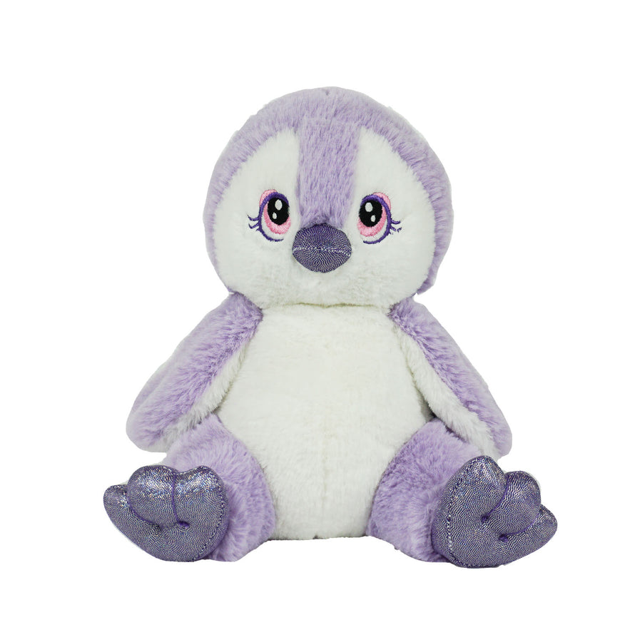 8 Inch Recordable PURPLE PENGUIN with 30 second digital recorder