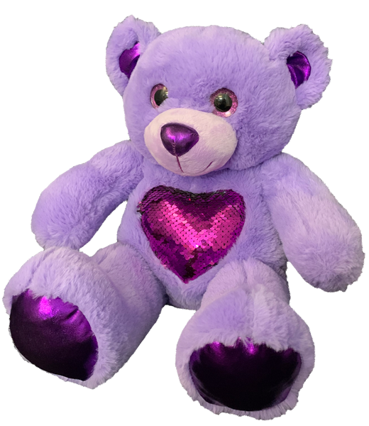 Recordable PURPLE BEAR Stuffed Animal
