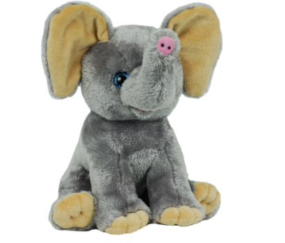 8 Inch Recordable  Elephant with 30 second digital recorder