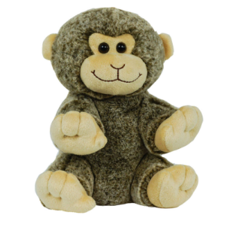 8 Inch Recordable Monkey with 30 second digital recorder