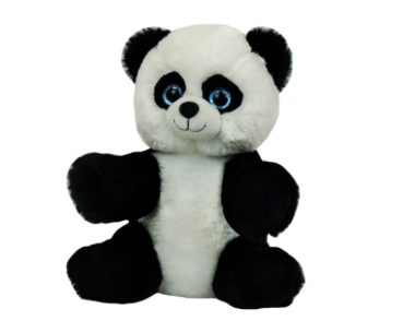 8 Inch Recordable Panda with 30 second digital recorder