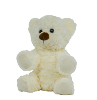 8 Inch Recordable White Bear with 30 second digital recorder