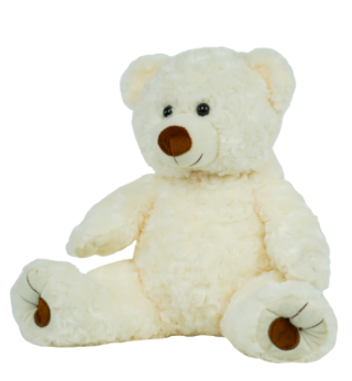 16 Inch Recordable White Cuddle Bear with 30 second digital recorder