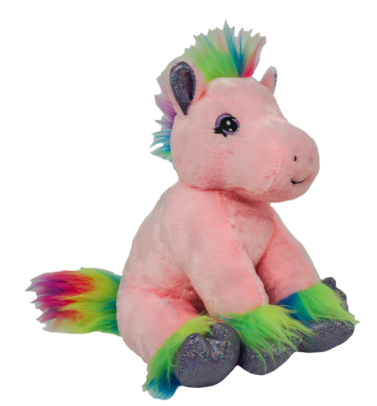 8 Inch Recordable Rainbow Pony with 30 second digital recorder