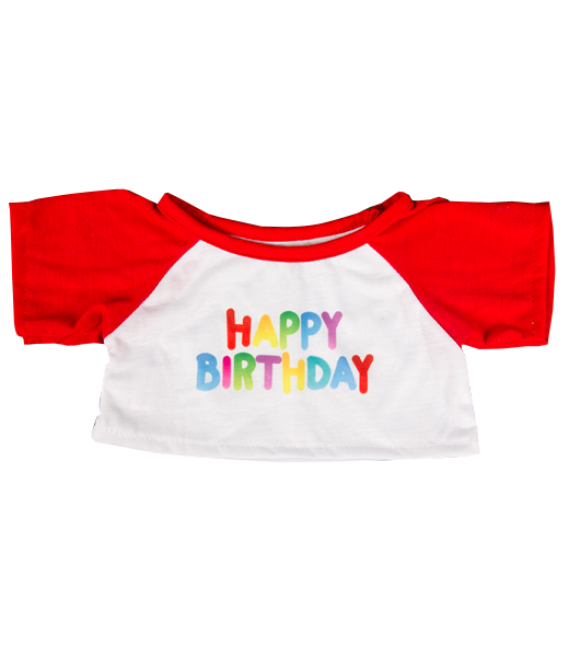 teddy bear HAPPY BIRTHDAY T-shirt for 14