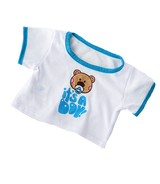 teddy bear IT'S A BOY T-shirt for 14