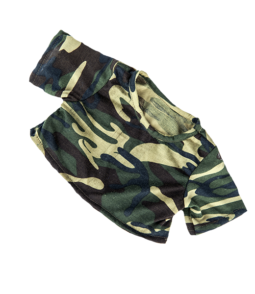 CAMO camouflage teddy bear t-shirt for 14
