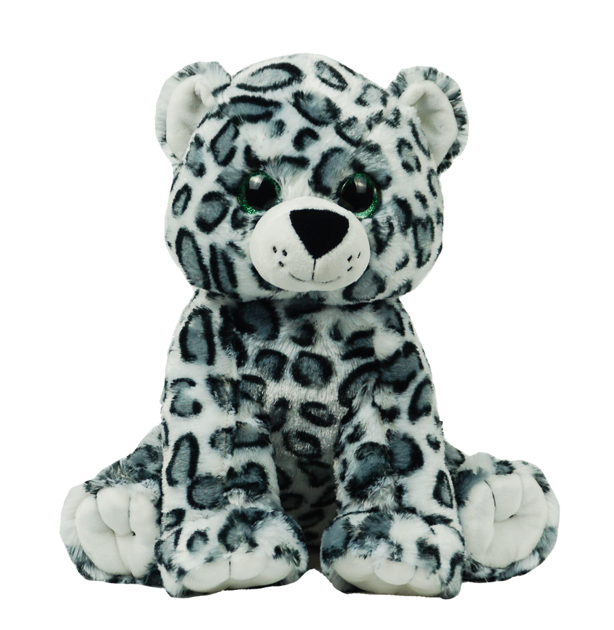 15 Inch Recordable Snow Leopard