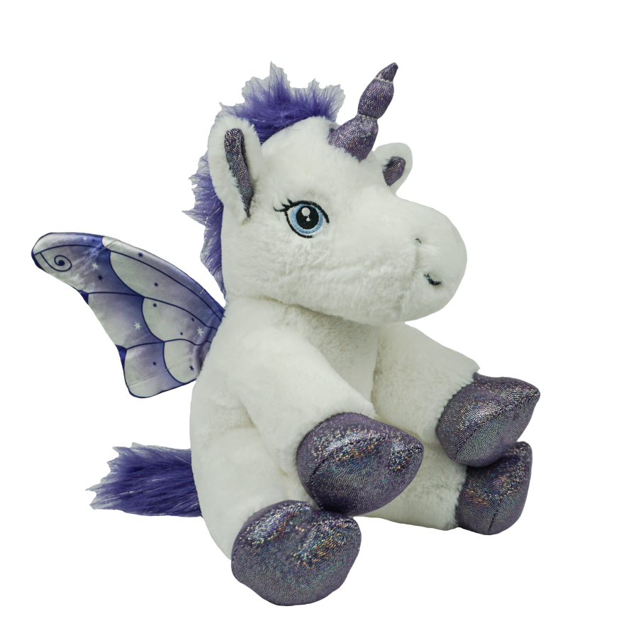 8 Inch recordable blue/white pegasus unicorn