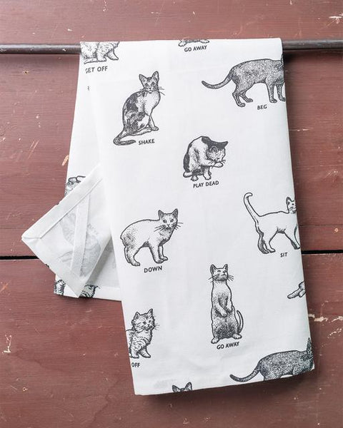 Cats Dish Towel - CityBarnCountryPenthouse
