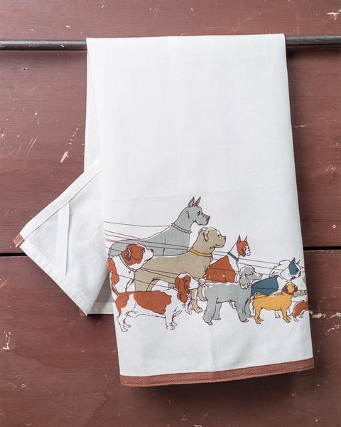 Dog Walker Dish Towel