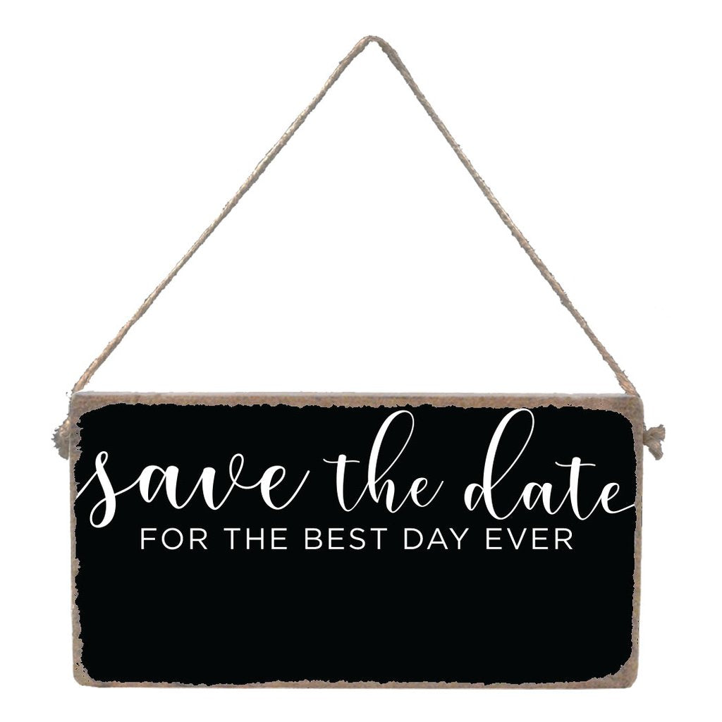 SAVE THE DATE CHALKBOARD MINI PLANK