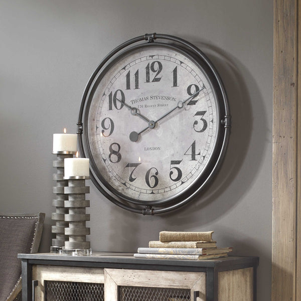 Nakul Wall Clock - City Barn | Country Penthouse