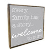 WELCOME TO OURS FRAMED VINTAGE SQUARE - CityBarnCountryPenthouse