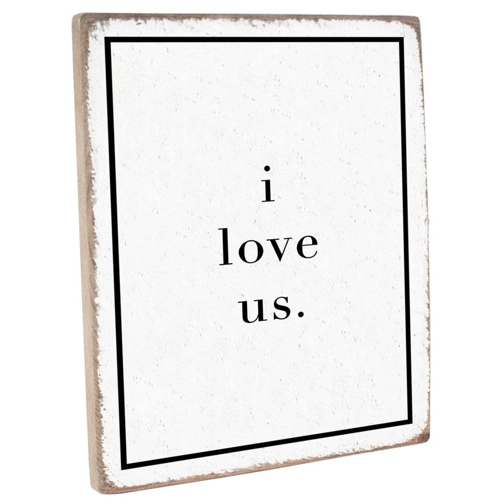 I LOVE US VINTAGE PLANK - CityBarnCountryPenthouse