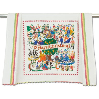 12 Days Of Christmas Dish Towel - CityBarnCountryPenthouse