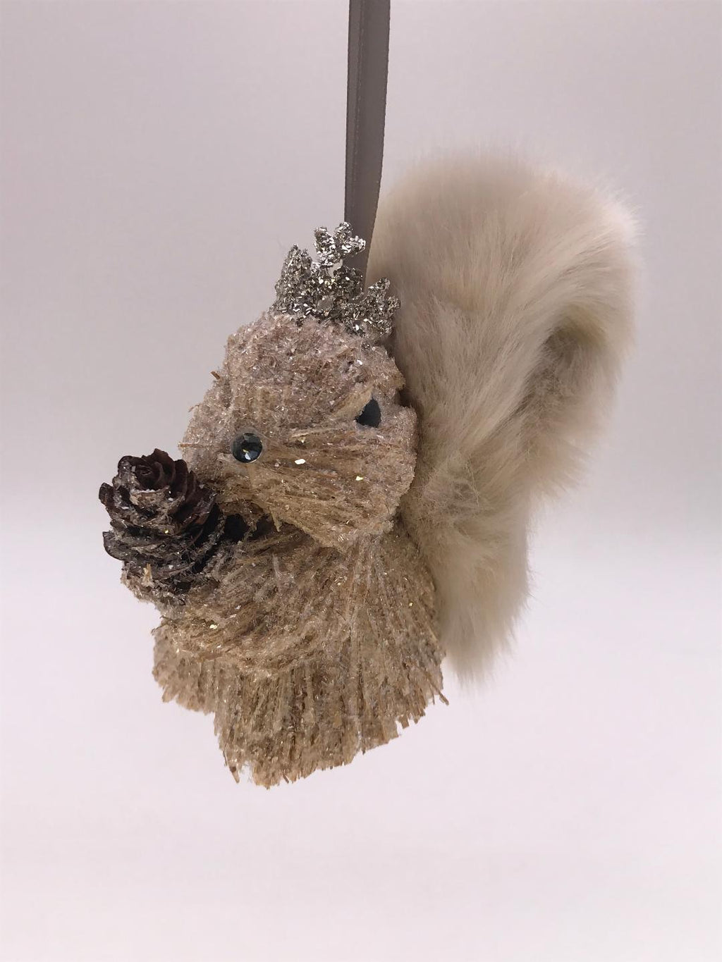 Brush Squirrel Ornament - Fawn Fur - CityBarnCountryPenthouse