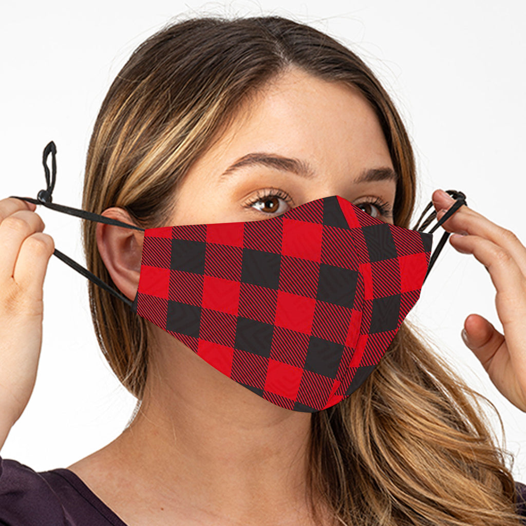Buffalo Plaid Face Mask With Filter - CityBarnCountryPenthouse