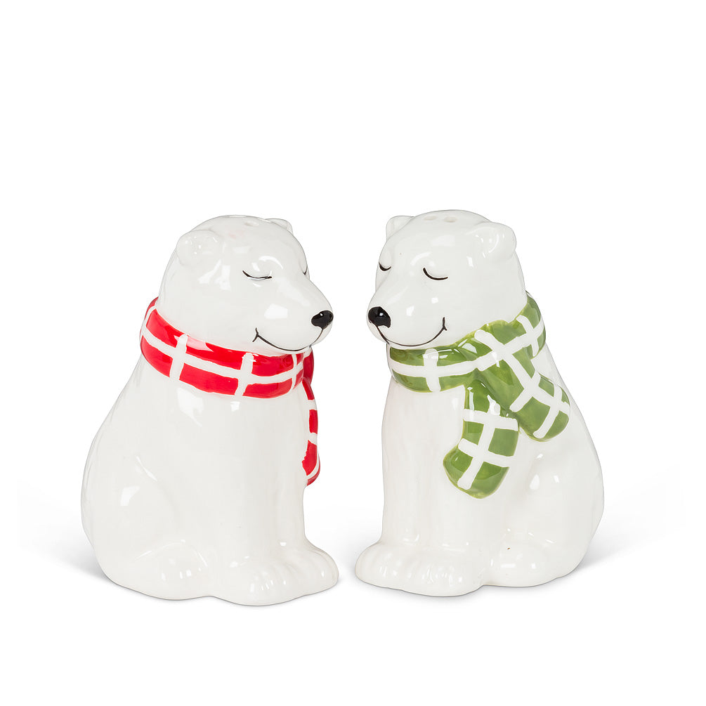 Polar Bears with Scarves Salt & Pepper - CityBarnCountryPenthouse