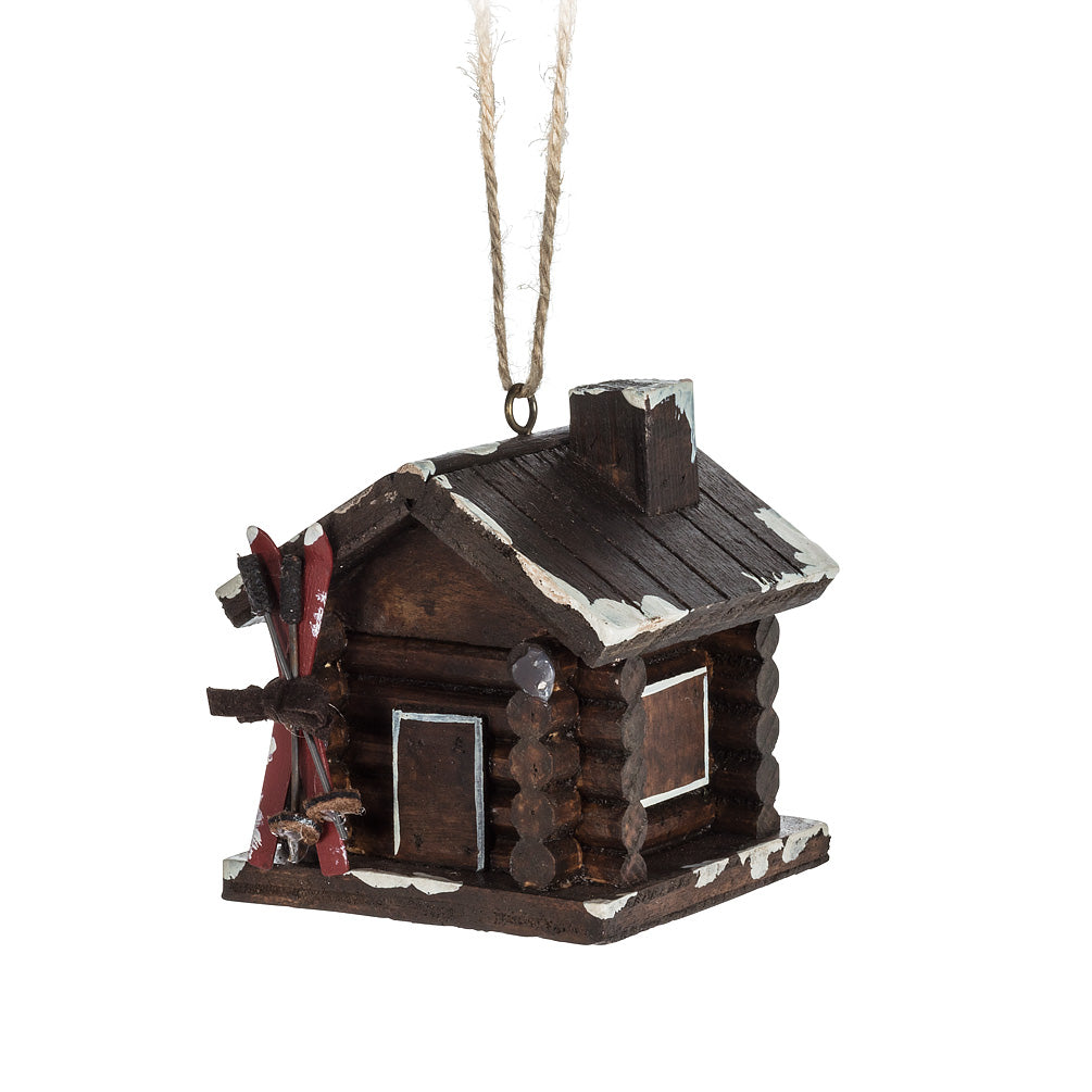 Cabin w/Skis Ornament - CityBarnCountryPenthouse