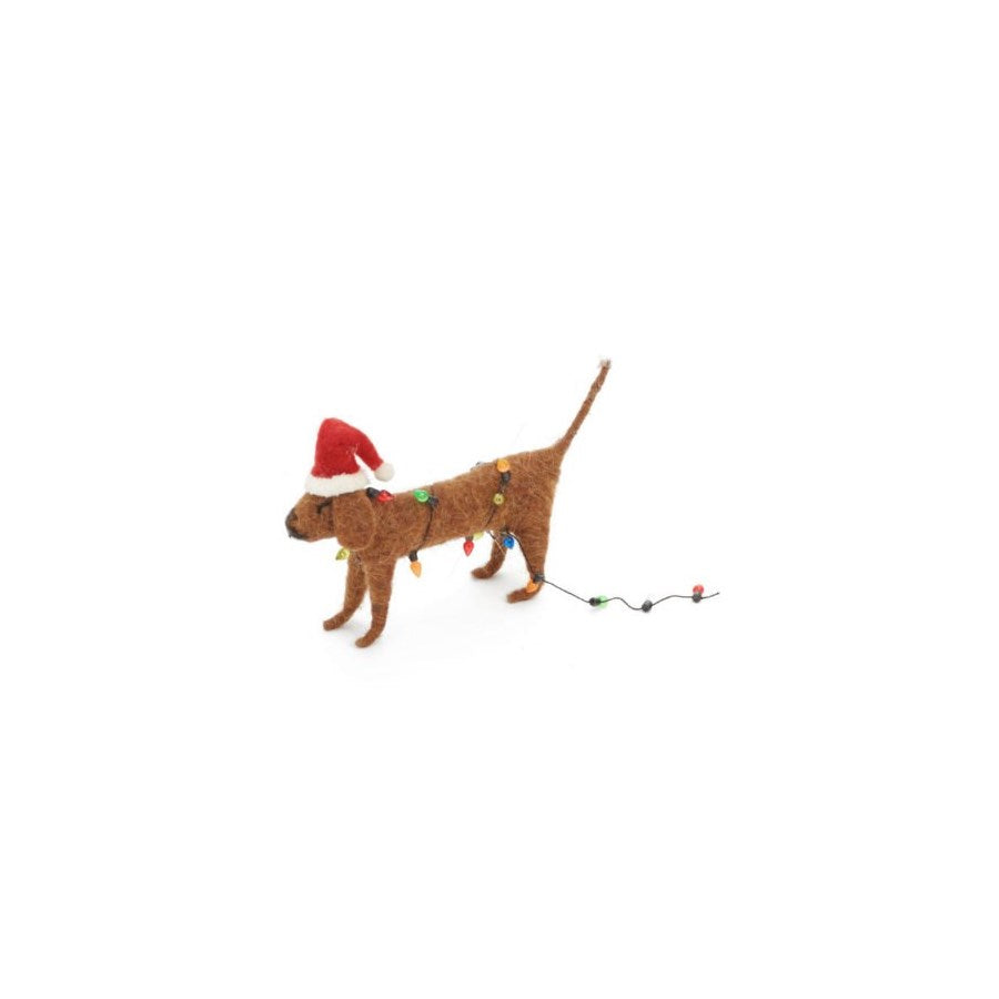 Dog Christmas Ornament with Lights - CityBarnCountryPenthouse