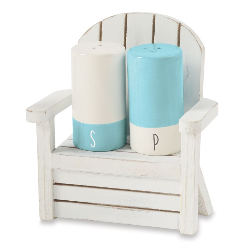 SALT AND PEPPER IN WOOD CHAIR - CityBarnCountryPenthouse