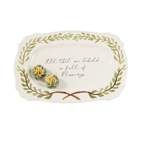 Blessings Garland Platter - CityBarnCountryPenthouse