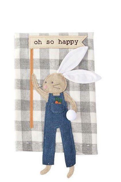 OH SO BUNNY DANGLE LEG TOWEL - CityBarnCountryPenthouse