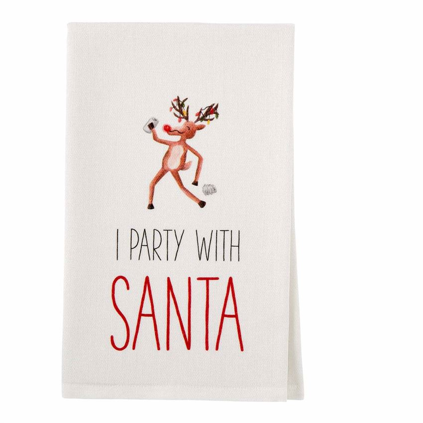 Party With Santa Drinking Towel - CityBarnCountryPenthouse