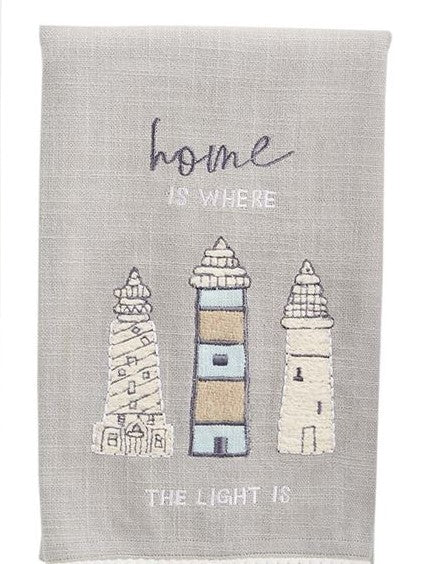 Lighthouse Applique Tea Towel