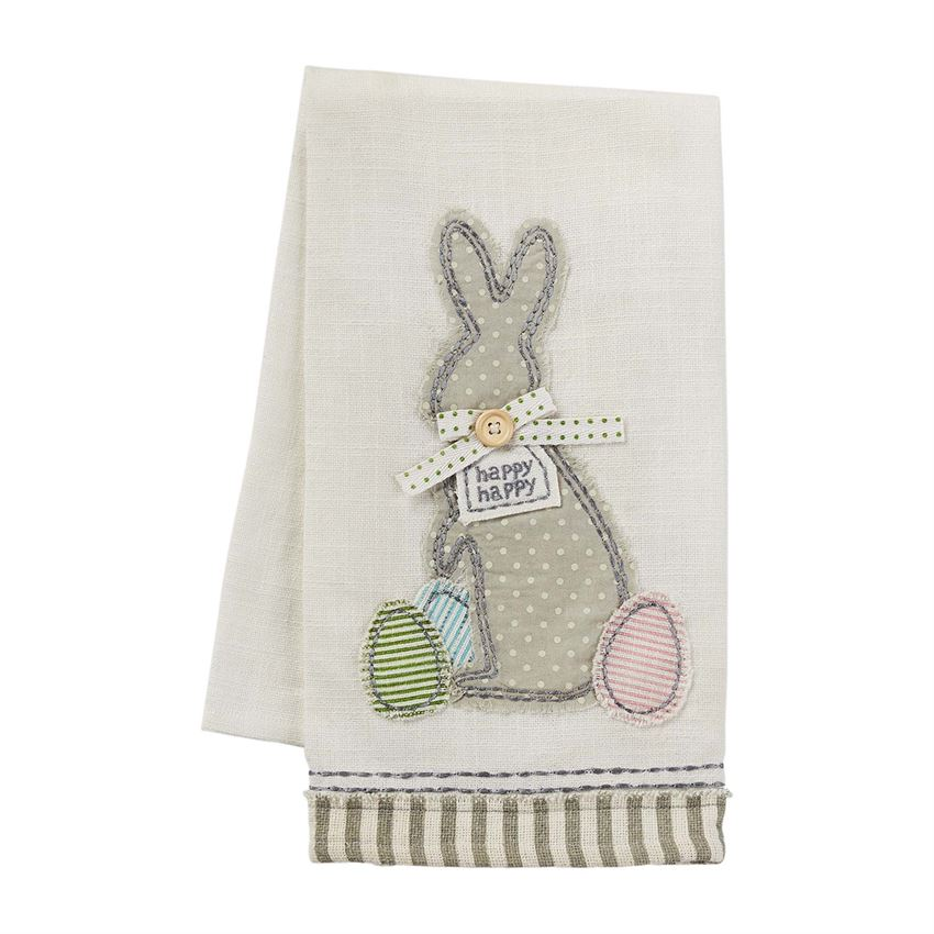 Bunny Applique Towel - CityBarnCountryPenthouse