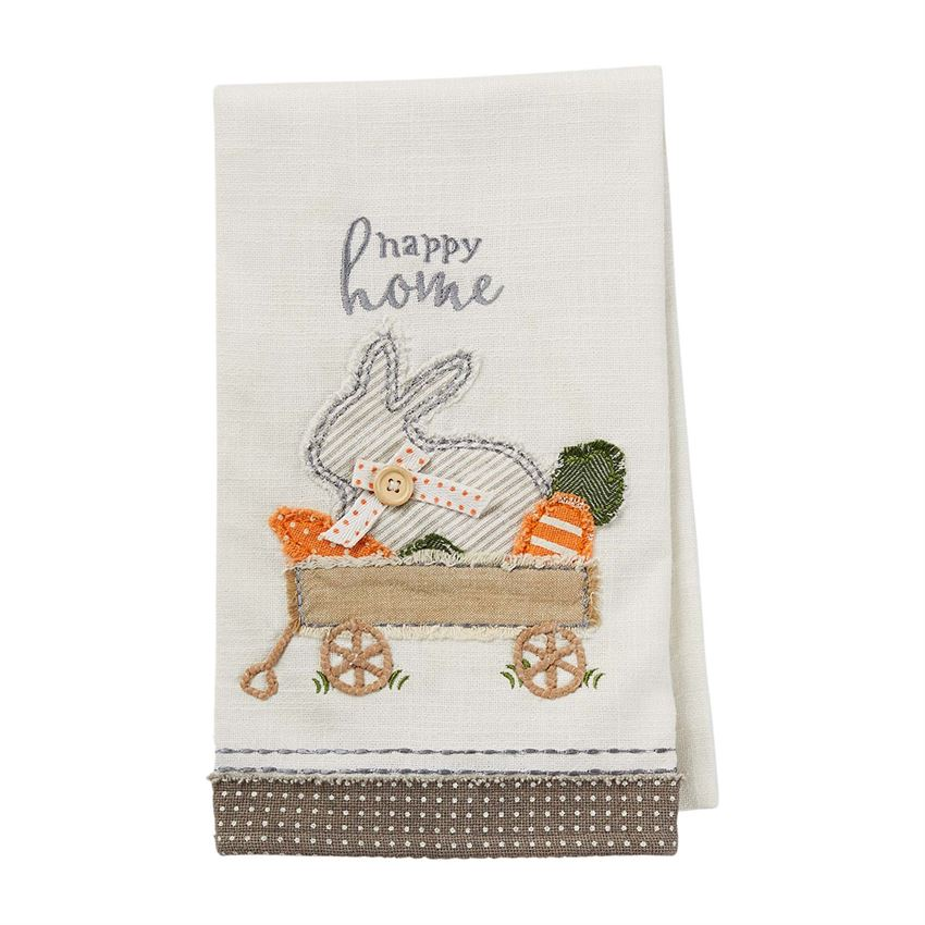 Bunny Wagon Applique Towel - CityBarnCountryPenthouse