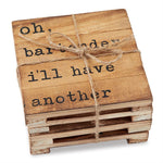 WOOD PLANKED COASTER SET - CityBarnCountryPenthouse