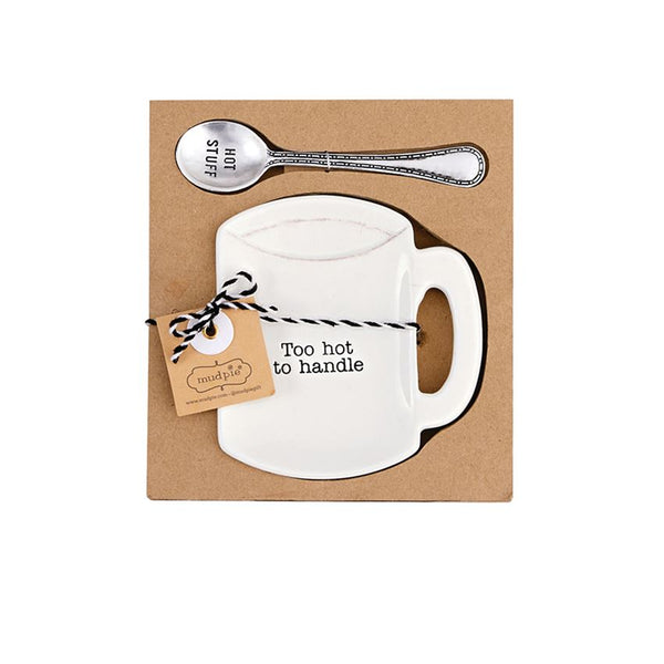 TOO HOT COFFEE SPOON REST SET - CityBarnCountryPenthouse