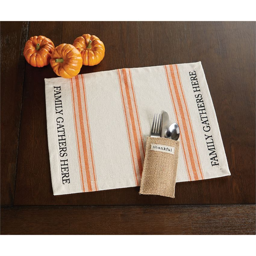 FAMILY GATHERS HERE PLACEMAT - CityBarnCountryPenthouse