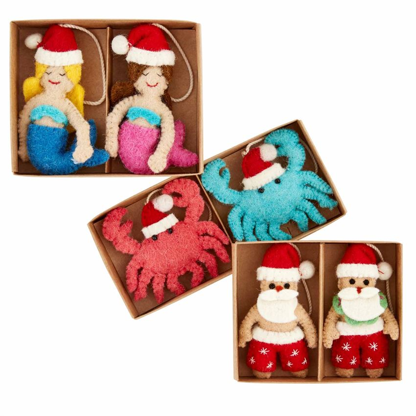 Boxed Sea Xmas Ornaments - CityBarnCountryPenthouse